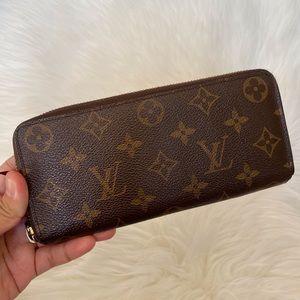 Authentic Louis Vuitton monogram zip around wallet